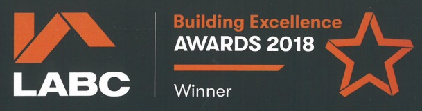 Winner of LABC West of England Building Excellence Award 2018 - Small New Housing Development