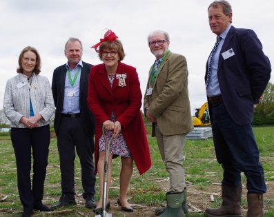 Ground Breaking - Work Begins on Wiltshire Air Ambulance's New Airbase